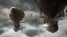 The Three Musketeers (2011) flying steampunk ships