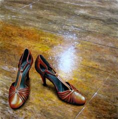 """Saatchi Art is pleased to offer the painting, """"Dorothy's shoes Street, Stratford by Chris Klein. Original Painting: Acrylic on Canvas. Saatchi Online, Chris Klein, Dorothy Shoes, Shoe Art, Art Shoes, Art Prints Online, 42nd Street, Original Art For Sale, Kitten Heels"""