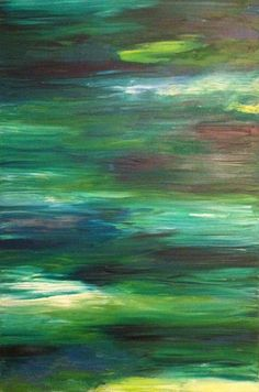 Original Abstract Painting  Calm Waters by rekARTdesigns on Etsy, $150.00