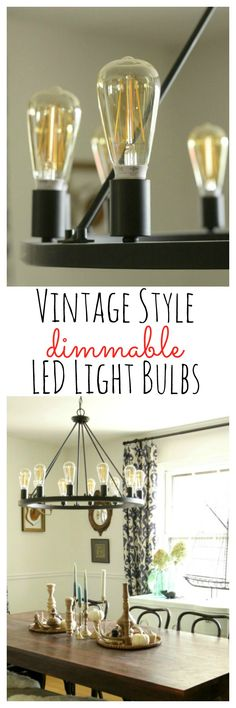 Vintage Style Dimmable LED Light Bulbs