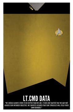 Star Trek TNG équipage complet affiche Pack par BlueBoxesEtc