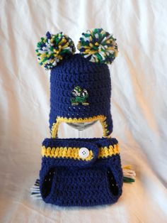 51cf911a69e 31 Best Notre Dame Football Crochet Items I Have Made images