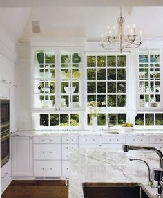 I want a kitchen with windows like this.