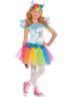 Girls Rainbow Dash Costume - My Little Pony