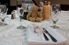 Teddy Bears for the brown table