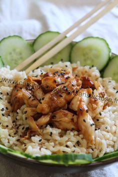 merlan à la japonaise Sans Gluten Sans Lactose, Risotto, Potato Salad, Potatoes, Chicken, Cooking, Ethnic Recipes, Food, Cooker Recipes
