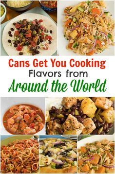 Quick & easy dinner recipes made with canned foods - Flavors from Around the World #ad