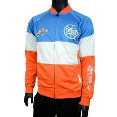 Men's Zipway Oklahoma City Thunder Stadium Sport Jacket, Size: Medium, Orange