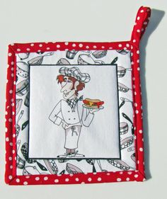 Tekstylia kuchenne Handmade hot pad potholders Loralie Harris fabric Dogs on the Go Podkładki pod garnki