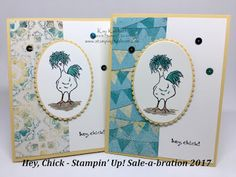 Hey Chick, Stampin' Up! Sale-a-bration Cuteness!! How to Fab Friday Live Video included, Kay Kalthoff, #stampingtoshare
