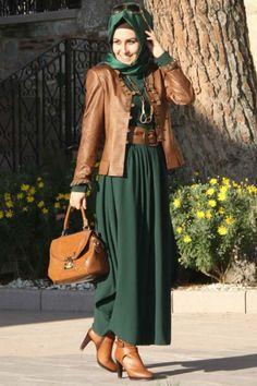 Pınar Şems Yeşil Drapeli Elbise
