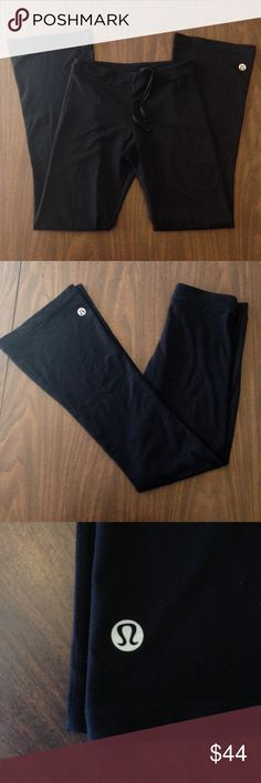Lululemon Athletic Pants Full length pants with drawstring. Very soft and stretchy. Worn only once- in excellent condition. Fits true to size. Offers welcome. No trades please! lululemon athletica Pants Leggings