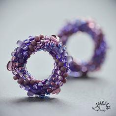 Fi-fi-fialové kroužky - náušnice - puzety