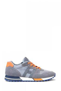 Hogan Herren Sneaker H383 Nastro Hellgrau | SAILERstyle Sneakers, Shoes, Fashion, Velvet, Grey, Leather, Women's, Tennis, Moda