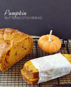 Pumpkin Butterscotch Bread: Perfect for chilly, fall mornings!
