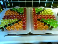Not actually a cake but a union jack of vodka jellies which we made for the jubilee party!