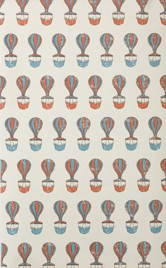 """""""Ferris"""" by  FERM LIVING @ Project Decor // Printed on WallSmart wallpaper (non-woven fleece). WallSmart wallpaper is a new generation of non-woven wallpaper that is easier and faster to hang.  #vintage #balloon #ferriswheel #wallpaper #kids"""