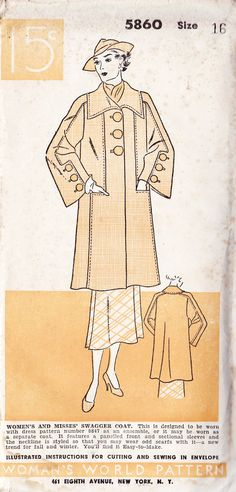1930s Misses Swagger Coat