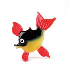 cute fish glass figurine