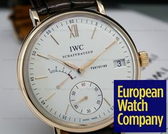 (23372) IWC IW510107 Portofino Hand Wound Eight Days 18K RG Silver Dial