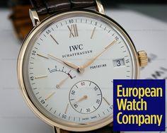 (23372) IWC IW510107 Portofino Hand Wound Eight Days 18K RG Silver Dial