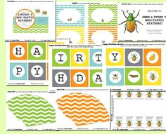 BUG - Tastic Birthday Party Decor -Printable Full Collection - Happy Hippos
