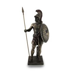 Greek Hero Ajax the Great Holding Spear and Shield Bronze Finish Statue * See this great product. Reaper Statue, Greek Mythology Gods, Statues For Sale, Collectible Figurines, Ancient Art, Bronze Finish, Decorative Accessories, Sculptures, Hero
