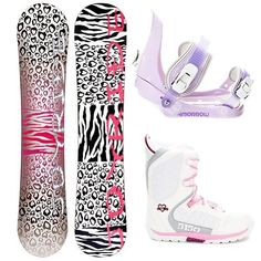 Joyride Cheetah White Snowboard Package by Joyride. $179.99. The JoyRide Cheetah White Girls Snowboard Package is a great entry-level board, boot and binding combo that will help build the confidence of your young girl so that she can tackle the entire mountain one day soon. With its Camber profile you can expect the Cheetah White Snowboard to offer great control with a strong edge hold so she can perfect the turns allowing you to face steeper terrain. She will have a li...