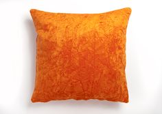 Orange Cushion Covers, Orange Cushions, Crushed Velvet, Living Rooms, Throw Pillows, Home, Design, Lounges, Toss Pillows