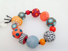From London Polymer Clay group Blue & orange - another colour combination I love.