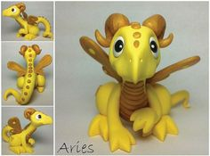 Handmade Astrological Dragons  Aries Dragon by LIZZARDDESIGNS, $55.00