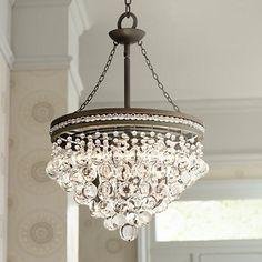 """Regina Olive Bronze 19"""" Wide Crystal Chandelier - #U2231   LampsPlus.com"""