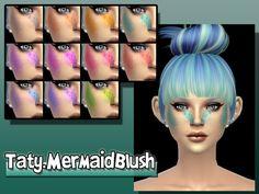 Mermaid Blush by Taty at TSR via Sims 4 Updates The Sims, Sims 4 Teen, Sims 4 Body Mods, Sims 4 Mods, Sims 4 Mm Cc, Sims 1, Best Sims, Sims 4 Update, Sims Community