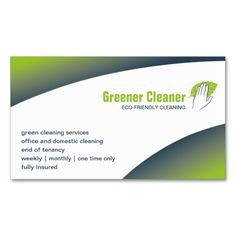 Eco-cleaning Business Card. Make your own business card with this great design. All you need is to add your info to this template. Click the image to try it out!