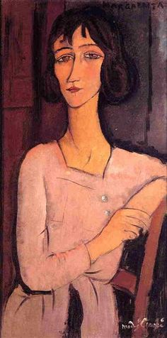 Margarita seated, 1916 by Amedeo Modigliani. Expressionism. portrait. Private Collection