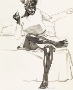 Paddle8: Untitled (Study for the Painter) - Kerry James Marshall