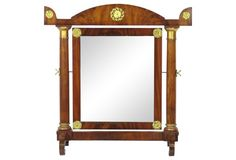 19th-C. French Looking Glass