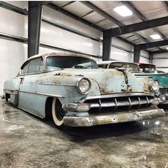 """""""Beauty is in the eye of the beholder. Here's some rusty beauty- @the_only_jp 's 54 Chevy BelAir looking mighty fabulous! #kingsofkustom #cardaily #hotrod…"""""""