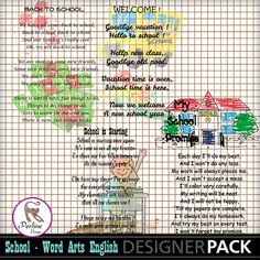 his pack is made of 4 word-Arts, big size, 300 DPI. In ENGLISH For PERSONAL use ONLY
