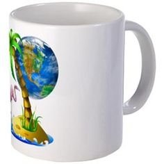 Flamingo Earth Palm Mug > Flamingo Earth > DODGERFL PRODUCTIONS