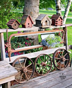 DIY Salvaged Junk Projects 385 - Denim cuffs, tin can washboard, instant pallet sofa, cow stanchion garden fence, plus! Features and a junk link party.