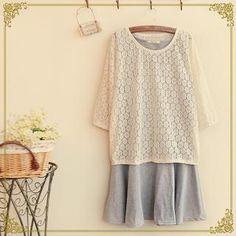 Set: Lace Top + Sleeveless Dress from #YesStyle <3 Fairyland YesStyle.com
