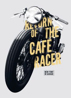 CafeRacer Typeface With the new caferacer font every single word becomes…