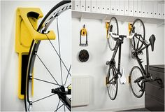 ENDO | BICYCLE WALL MOUNT The same design studio that created the Cycloc bike mount have now presented the award winning Endo wall mount, a non obtrusive two part system that holds your bicycle flat against the wall in an attractive vertical position. Endo holds bikes up to 33lbs and when not in use, lays flat against the wall, drawing very little attention.
