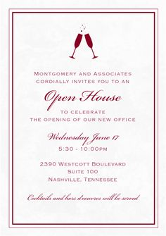 24 Best Grand Opening Invitations Images Business Invitation