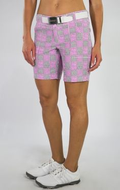 74ee7ab629f Love Golf Shorts  Here s our SANGRIA (Sangria Plaid) JoFit Ladies Belted 7