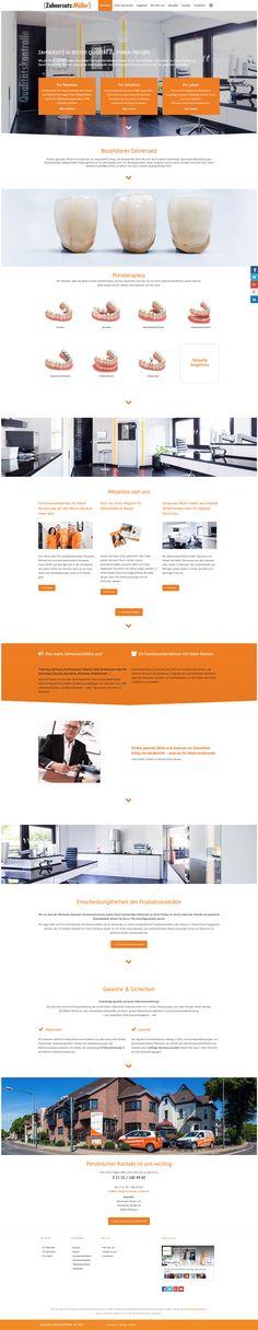Website / Webdesign Zahnersatz Müller