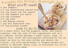 Pumpkin Pie Protein Overnight Oatmeal