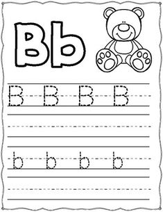 Tracing the alphabet worksheet for beginners. Preschool Workbooks, Preschool Writing, Preschool Learning Activities, Free Preschool, Abc Tracing, Tracing Letters, Alphabet Worksheets, Alphabet Activities, 4 Year Old Activities
