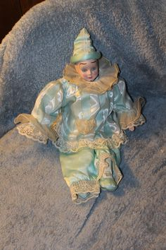 Vintage Clown Doll Great Clothing Lace by YourVintageDays on Etsy